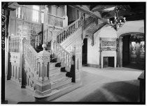 Image of Compton Interior: Hallway, Staircase, Entrance and Fireplace  1964 - 1988.1.107