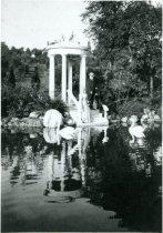 Image of John and Lydia at Love Temple  circa 1910 - 2004.1.125