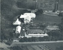 Image of Aerial View of Fernery and Greenhouses  1938 - 2004.1.164