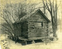 Image of Log Cabin in Winter - 2004.1.332