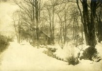 Image of Log Cabin in Winter  1937 - 2004.1.333