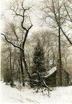 Image of Log Cabin in Winter  1937 - 2004.1.337