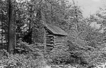 Image of Log Cabin Before Renovation - 2004.1.357
