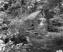 Image of Log Cabin Before Renovation - 2004.1.358