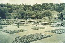 Image of Rose Garden with Pansies, Urn and Pavilion  1924 - 2004.1.466