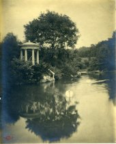 Image of Swan Pond and Love Temple  circa 1913 - 2004.1.48