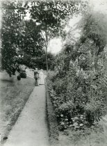 Image of John & Lydia in Formal Garden  circa 1913 - 2004.1.499