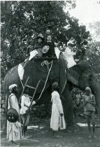 Image of John and Lydia in India Atop the Elephant  1889 - 2004.1.503