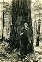Image of Old White Pine and Father of Forestry:  Joseph T. Rothrock  1914 - 2004.1.543