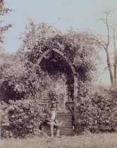 Image of Man Sitting in Garden at Cedar Grove  ca 1900 - 2004.1.773