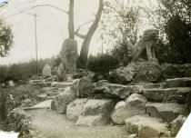 Image of Japanese Overlook Garden With Dog  1914 - 2004.1.832