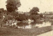 Image of Morris Estates Garden Lake, now Swan Pond - 2008.101.1