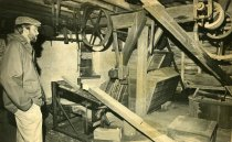 Image of Machinery on Second Floor of Springfield Mills  Circa 1980 - 2010.3.23