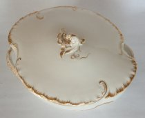 Image of Haviland Limoges Covered Vegetable Bowl  aft. 1891 - Haviland Limoges covered vegetable bowl with fitted lid.   Quantity 2.