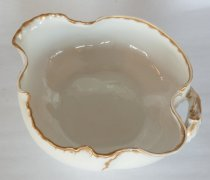 Image of Haviland Limoges Serving Bowl  aft. 1891 - Haviland & Co Limoge single-handled serving bowl with spout.  Quantity 1.