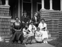 Image of Harshberger Family and Others Outside Summer House in Belmar, NJ  1920 - 2011.6.144