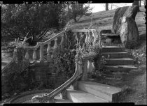 Image of Rustic Seat and Stairway  1937 - 2011.8.74