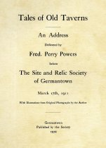 Image of Tales of Old Taverns:  An Address by Fred. Perry Powers 1911 - Powers, Fred. Perry