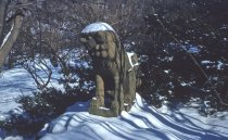 Image of Korean Foo Dog Statue in Japanese Overlook Garden III  1959 - 2013.1.236