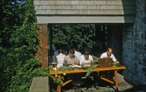 Image of Class in Woody Ornamentals on Gates Porch, 1956 - 2013.1.455