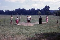 Image of Woody Plant Class Playing Volleyball, 1963 - 2013.1.471