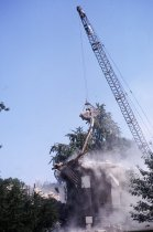 Image of Compton Mansion Demolition with Crane  1968 - 1968.5.8
