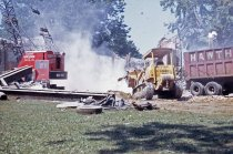 Image of Vehicles at Compton Mansion Demolition  1968 - 1968.5.12