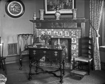 Image of Interior of Mansion Fireplace & Antique Furniture - 2004.1.44GN