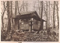 Image of Japanese Tea House and Lantern   - 2013.27.89