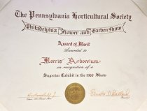 Image of Award of Merit - PHS/ Philadelphia Flower Show   1980 - 2014.32.21