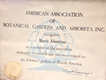 Image of AABGA Recognition Award   undated  - 2014.32.24