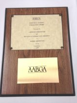 "Image of American Association of Botanical Garderns & Arboreta   1988 - ""AABGA""  Dorothy E Hansell Publication Award.  Presented by The American Assoication of Botanical Gardens and Arboreta to Morris Arboretum for its Newsletter  1988
