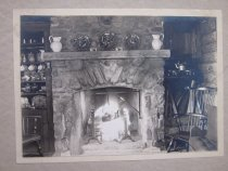 Image of Log Cabin Fireplace - 2014.40.24