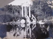 Image of John Morris at Love Temple with Swans  ca 1911 - 2014.40.32