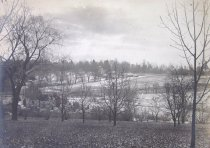 Image of View Across South Slope Along Hillcrest, w/ Lodge, in Some Snow  bef. 1910 - 2014.40.50
