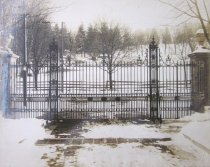 Image of Lodge Gates in Winter - 2014.40.51