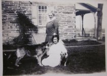 Image of Margaret Tonkin With Her Daughter and Morris Dogs at Cedar Grove - 2014.40.7