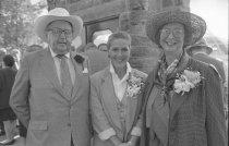 Image of Mr. and Mrs. Hamilton and Dr. Judith Rodin at Fernery Dedication  1994 - 2014.42.1.36