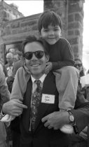 Image of Will Agate and Son at the Fernery 1994 - 2014.42.3.03