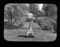 Image of Marble Fountain in Flower Walk  1919 - 2015.35.13