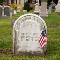Image of Headstone of Sarah J. Hale   2015 - 2015.49.2