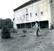 Image of Grass mowing at Bloomfield Barn  1952 - 2016.33.2