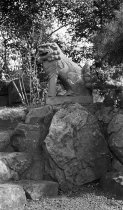 Image of Sando Komainu (Stone Korean Dog) from Nara, Japan  bef 1920 - 2004.1.809Nb