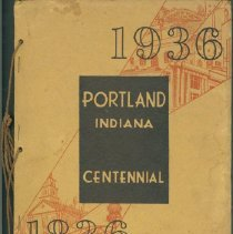 Image of Booklet - 1936 Portland Indiana Centennial