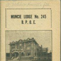 Image of Booklet - Muncie Lodge No. 245 B.P.O.E, Handbook, 1925
