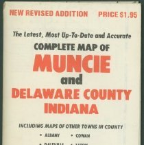 Image of Map - Complete Map of Muncie and Delaware County Indiana