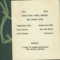 Image of Program - Sixty Fifty Annual Program / The Sorosis Club
