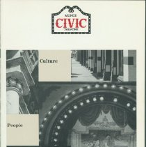 Image of Booklet - Muncie Civic Theater: Culture, People, Preservation Downtown
