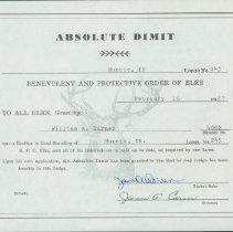 Image of Certificate, Membership - Absolute Dimit