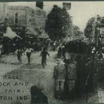 Image of Print, Photographic - Old Mens Foot Race at Eaton's Stock and Agricultural Fair